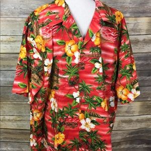 Men's RJC Hawaiian Button Down Shirt, Sz 3XL